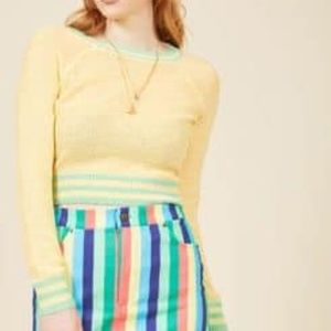 Modcloth Yellow Sweater